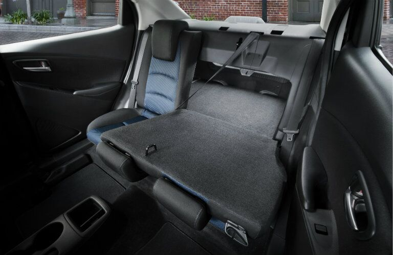 2017 toyota yaris ia interior rear seats trunk cargo area