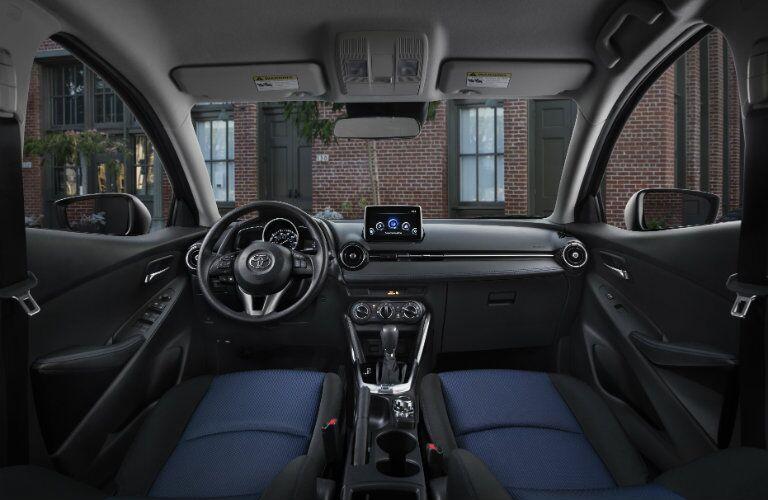 2017 toyota yaris ia interior dashboard touchscreen steering wheel