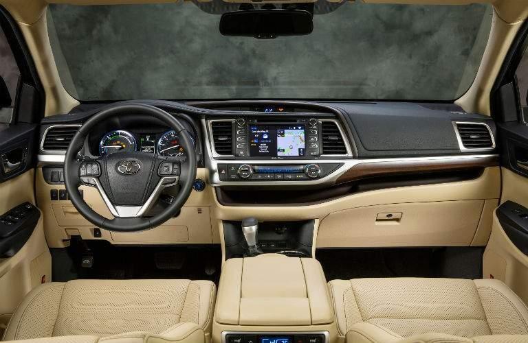 2018 Toyota Highlander Hybrid Interior Cabin Front Seat/Dashboard