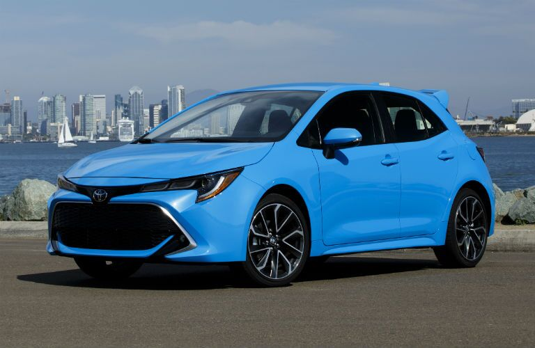2019 Toyota Corolla Hatchback Exterior Driver Side Front Angle