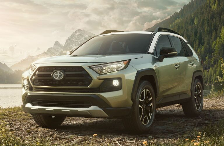 2019 Toyota RAV4 Exterior Driver Side Front Angle