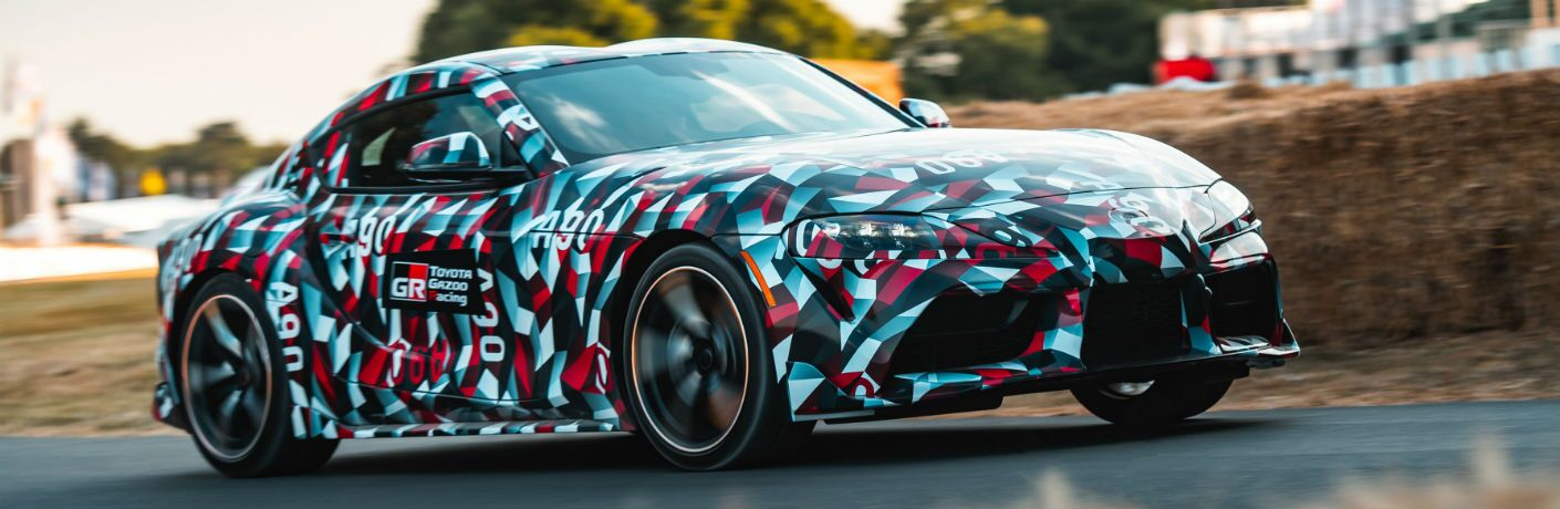 2019 Toyota Supra Exterior Passenger Side Front Profile in Camouflage