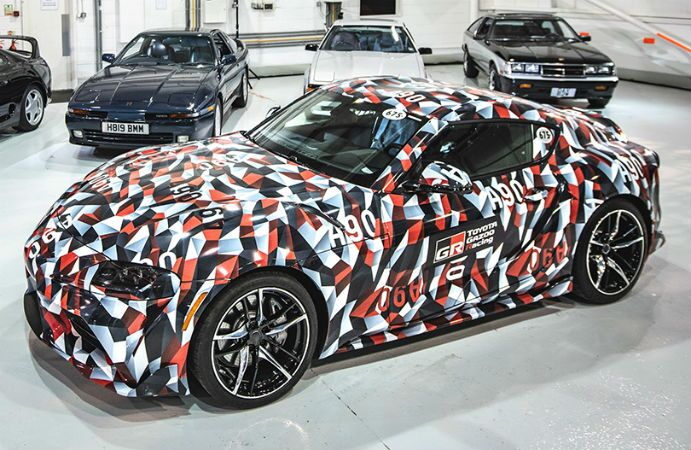2019 Toyota Supra Exterior Driver Side Front Profile in Camouflage