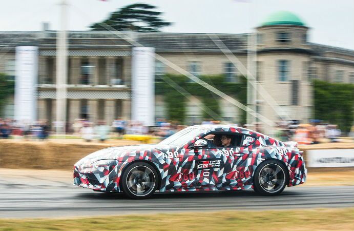 2019 Toyota Supra Exterior Driver Side Profile in Camouflage