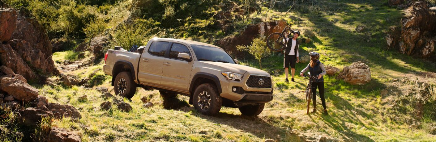 2019 Toyota Tacoma Exterior Passenger Side Front Profile on Mountain