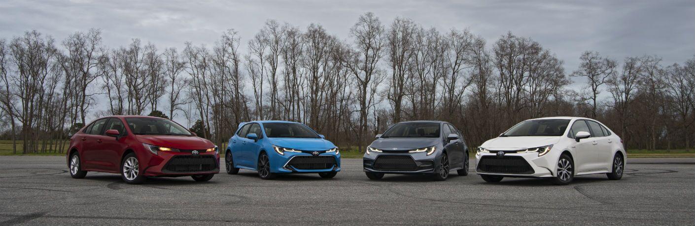 2020 Toyota Corolla Lineup Exterior Front Fascias & Angles