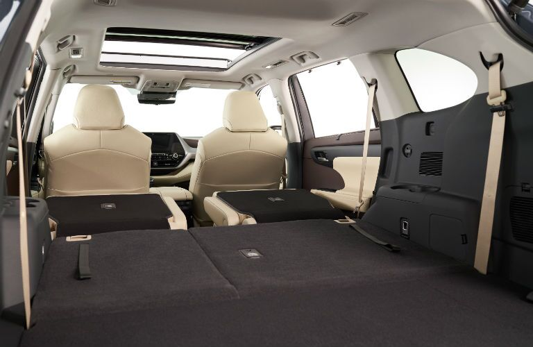2020 Toyota Highlander Interior Cabin Cargo Area Seats Folded Flat