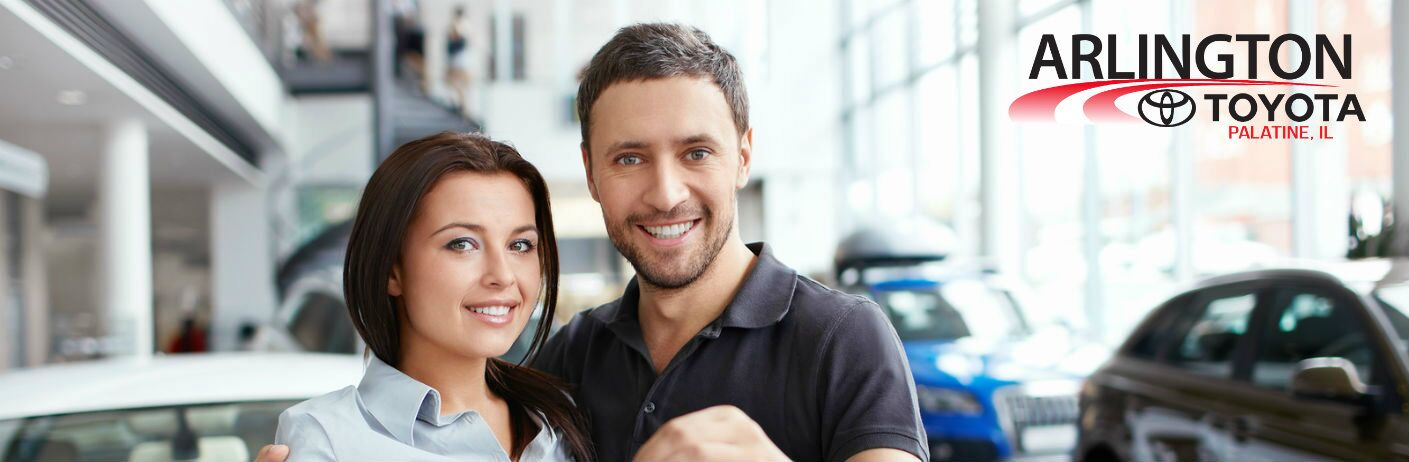 young couple purchasing car