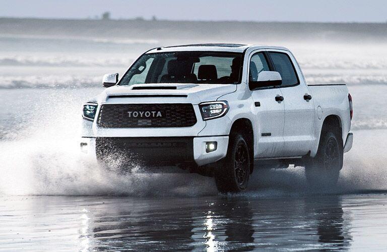 2019 Toyota Tundra Exterior Driver Side Front Angle Splashing