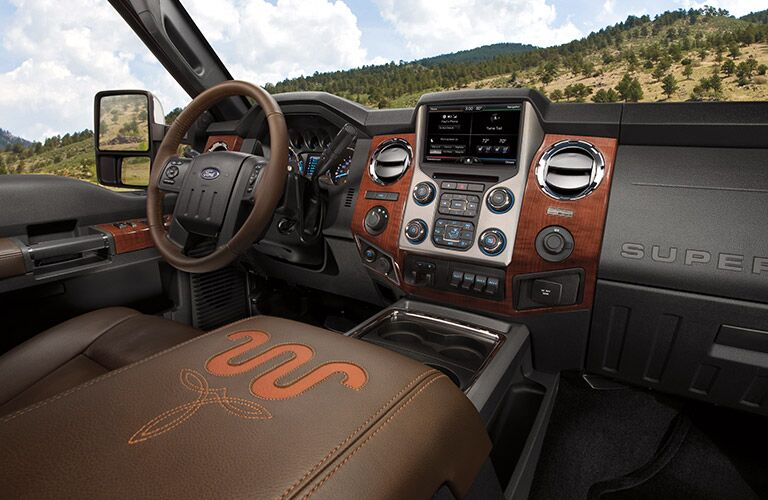 2015 Ford F-250 angled front interior shot