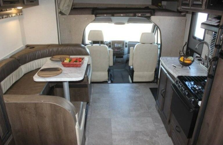 Interior view of the front half of a 2018 Coachmen Prism 2150