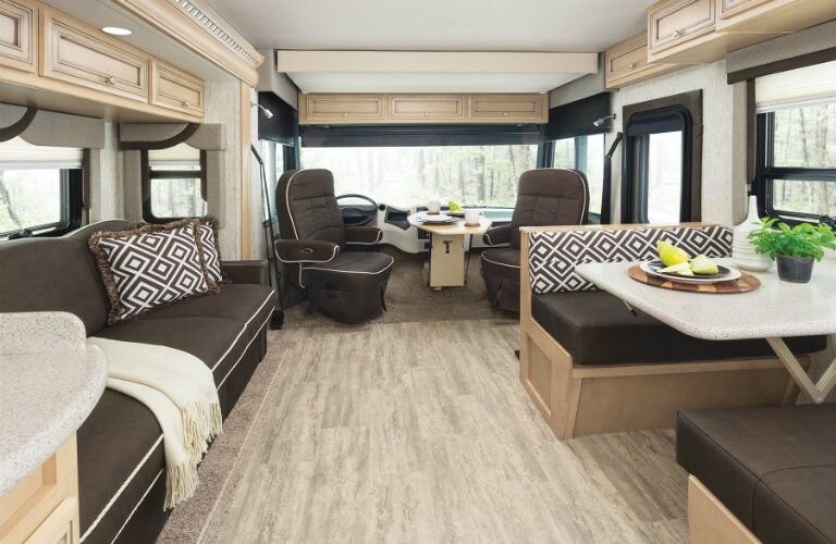 Luxurious RV interior with modern decor
