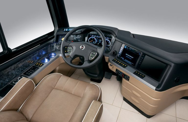 2020 Newmar London Aire cockpit and driving area