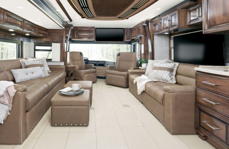 2020 Newmar London Aire interior view from the bedroom