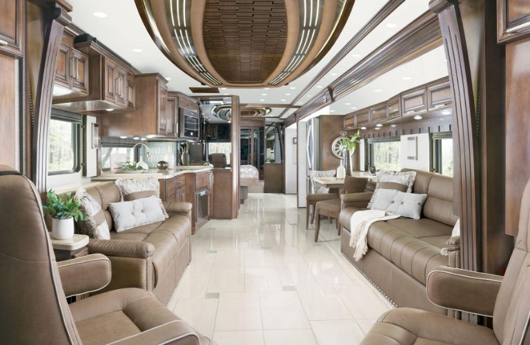 2020 Newmar London Aire interior view from the driver's seat