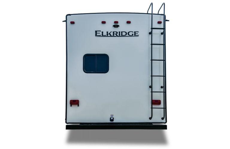 2020 Heartland ElkRidge straight on rear shot