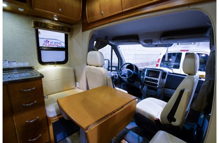 Class B motorhome driving area example