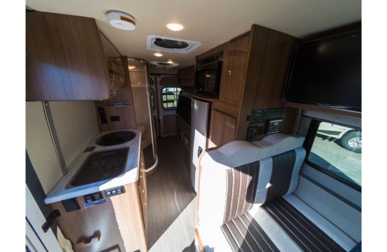 Class B motorhome interior example