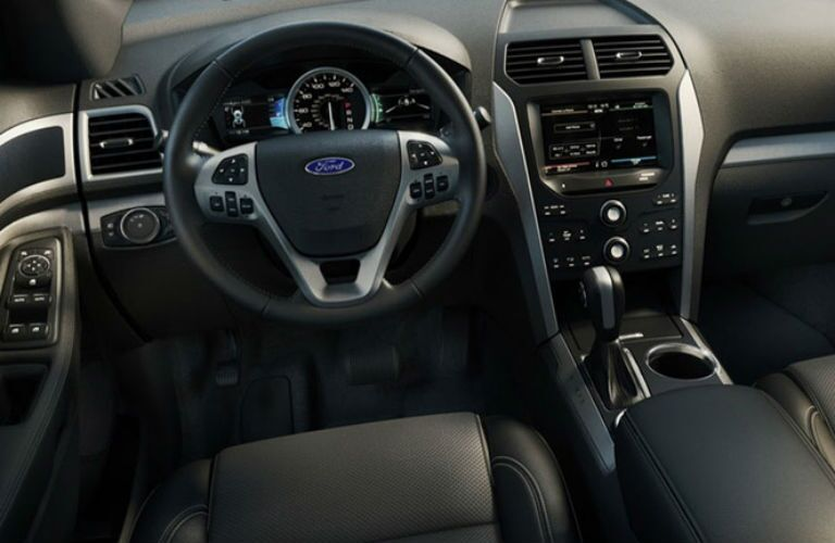 Driver's cockpit of the 2015 Ford Explorer
