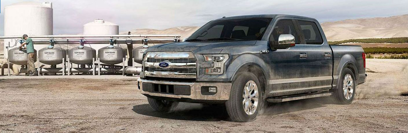 Driver side exterior view of a 2015 Ford F-150