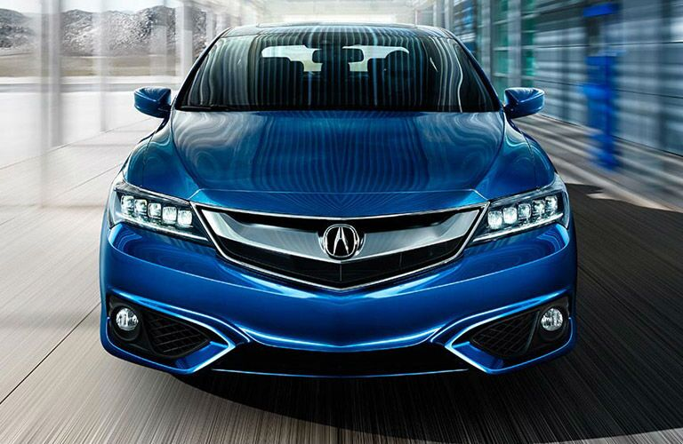 Front exterior view of a blue 2016 Acura ILX