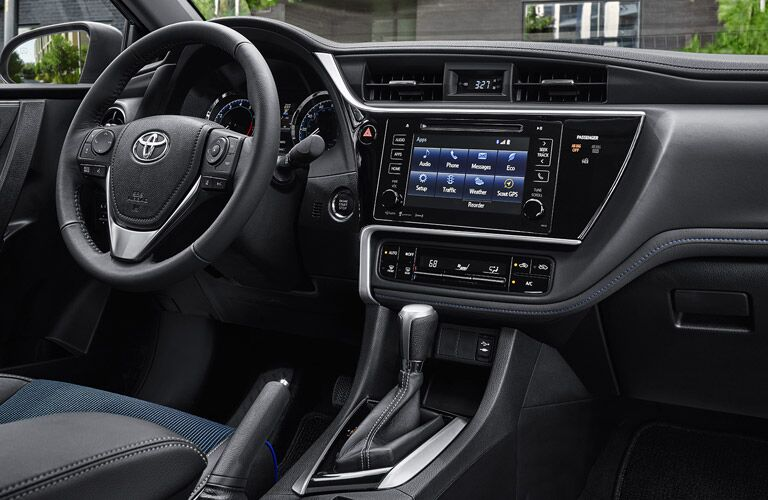 Driver's cockpit of the 2017 Toyota Corolla