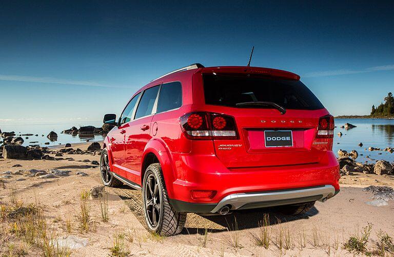 Red 2017 Dodge Journey
