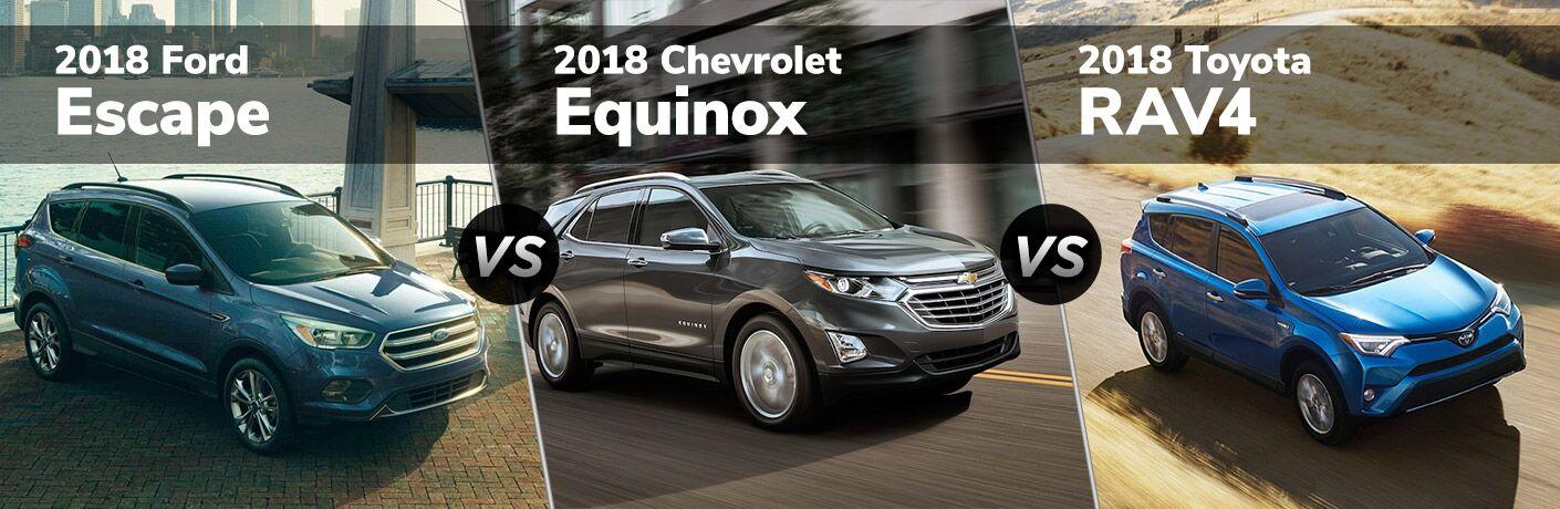 2018 Ford Escape vs. 2018 Chevy Equinox vs. 2018 Toyota RAV4