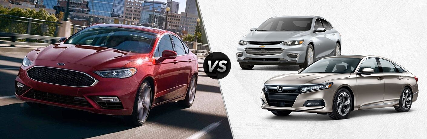 2018 Ford Fusion vs 2018 Chevy Malibu vs 2018 Honda Accord