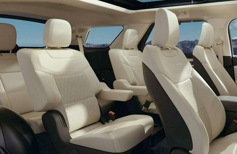 Interior view of seats on 2020 Ford Explorer