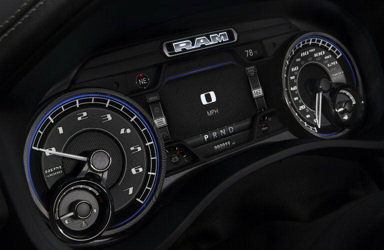 2019 RAM 1500 gauges and speedometer