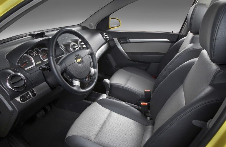 Front interior in the 2009 Chevy Cobalt
