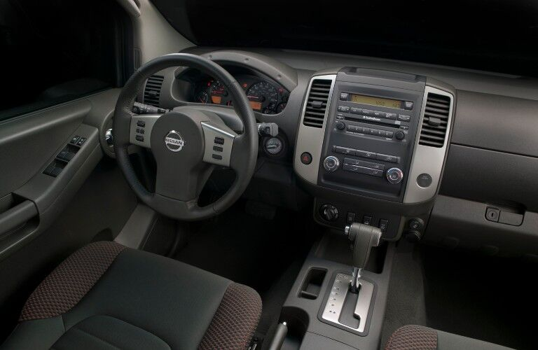 Front interior in the 2009 Nissan Xterra