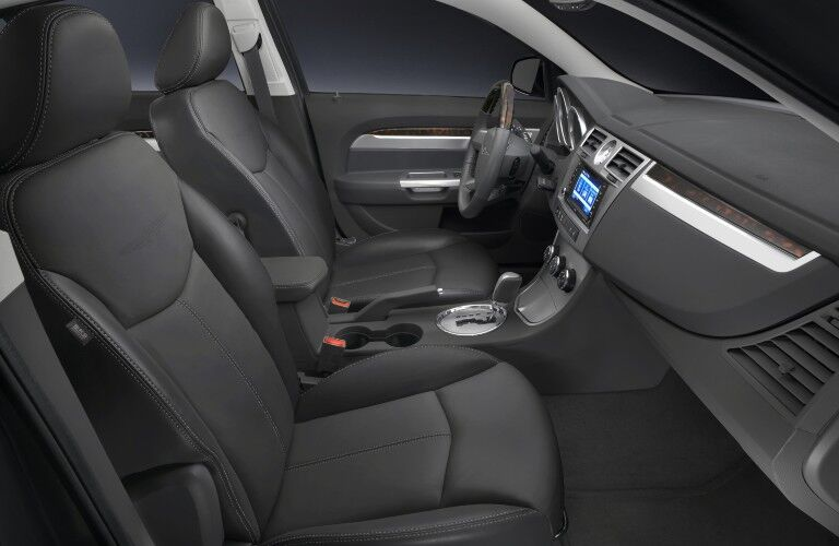 Front seats in the 2010 Chrysler Sebring