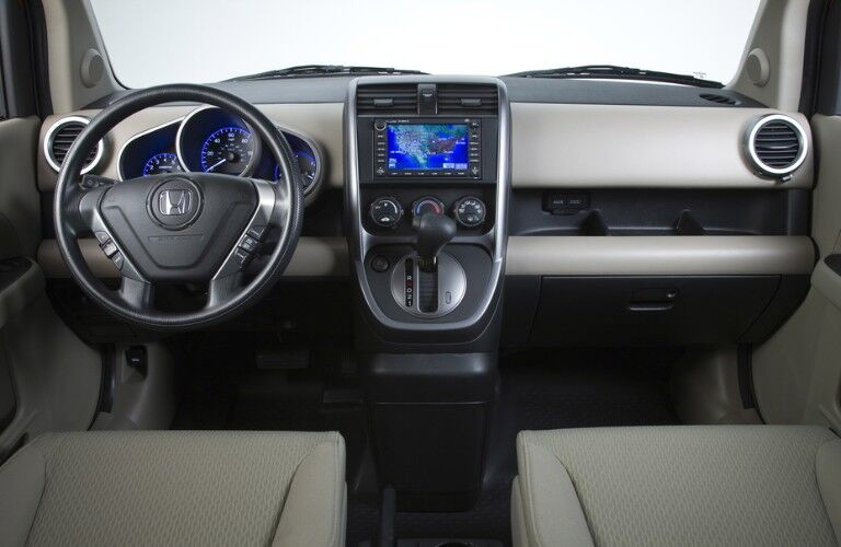 Front interior in the 2011 Honda Element