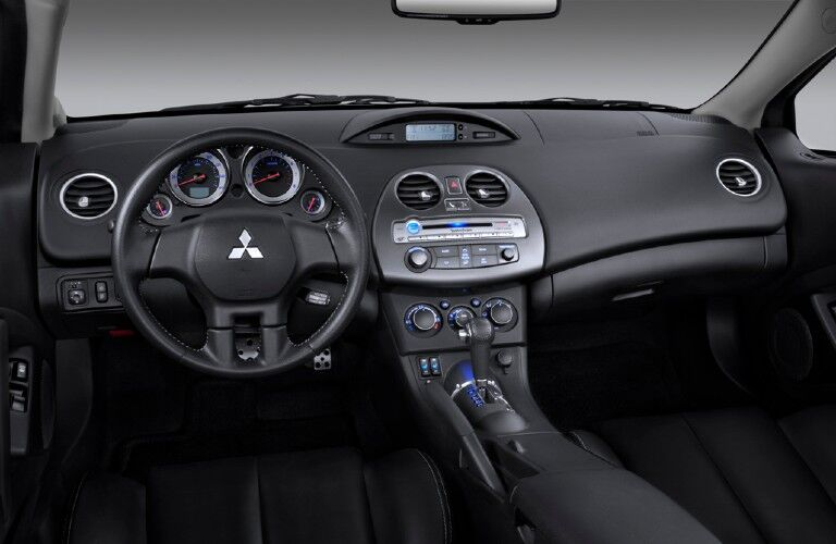 Front interior in the 2011 Mitsubishi Eclipse