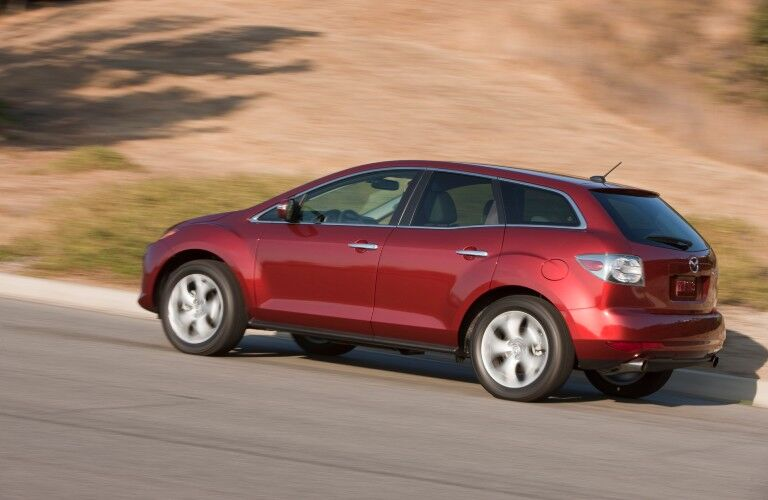 Driver angle of a red 2012 Mazda CX-7