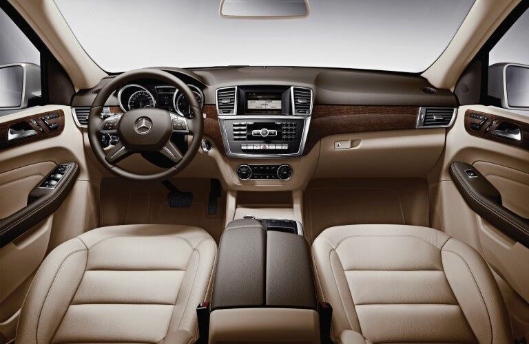 Front interior inside the 2012 Mercedes-Benz M-Class