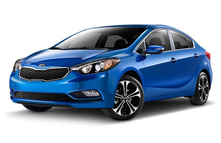 2014 Kia Forte Sedan redesigned on a white background