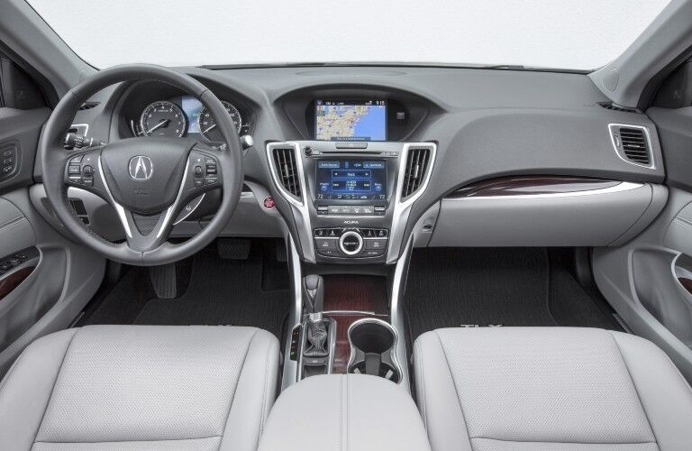 Front interior in the 2015 Acura TSX