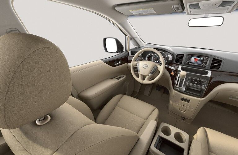 Front interior in the 2015 Nissan Quest
