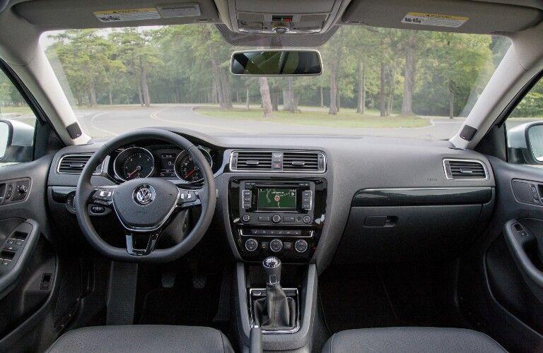 Front interior in the 2015 Volkswagen Eos