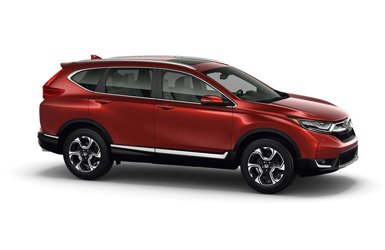 Side profile of the 2017 Honda CR-V on a white background