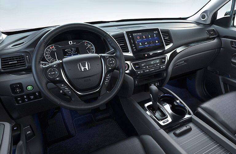 Honda Ridgeline dashboard and steering wheel