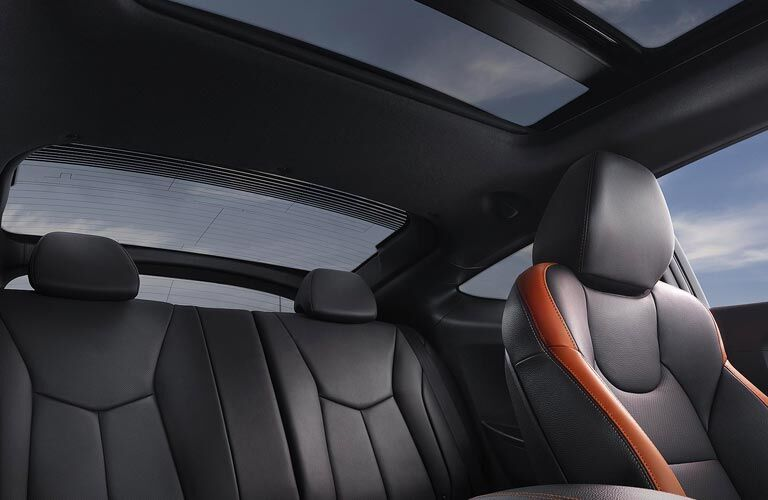 Hyundai Veloster interior passenger seats and sunroof