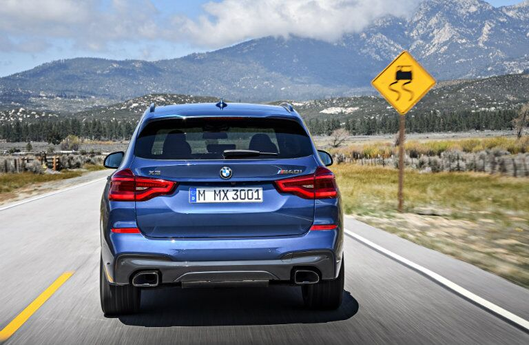 BMW X3 rear profile