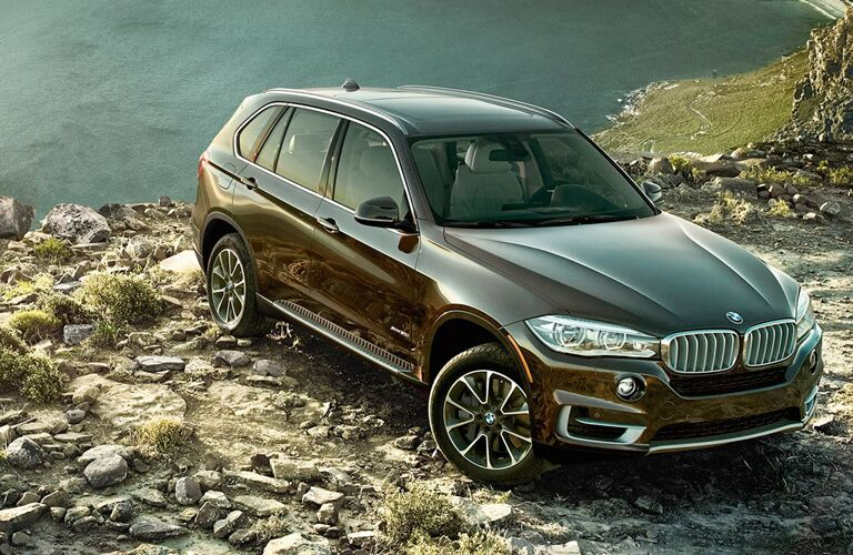 2018 BMW X5 parked on rocks