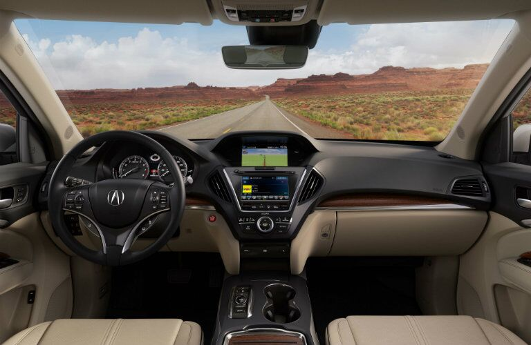 2018 Acura MDX dashboard and steering wheel