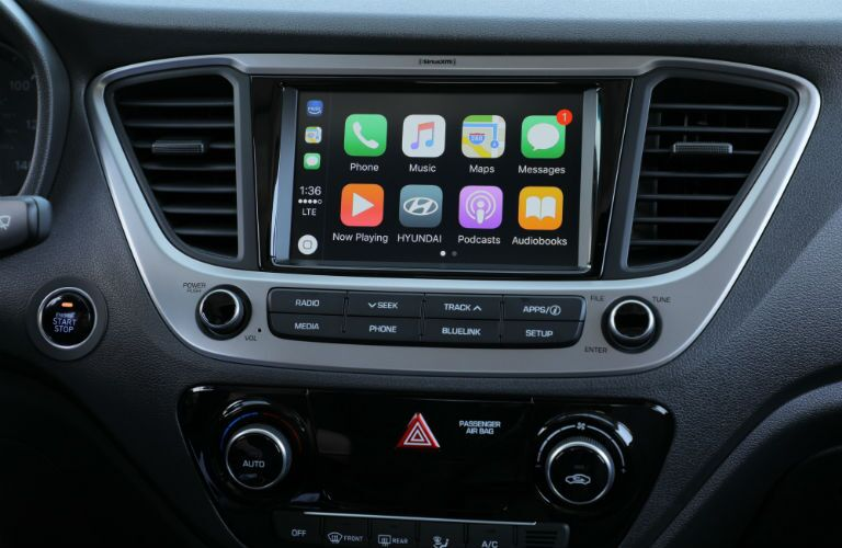 Hyundai Accent infotainment system