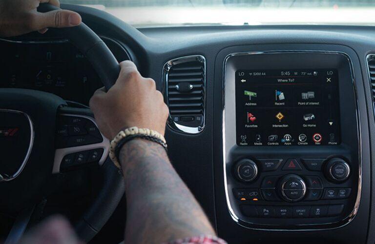 Dodge Durango dashboard and steering wheel